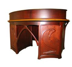 Art Nouveau Desk with Gallery     made by  William Doub Custom Furniture