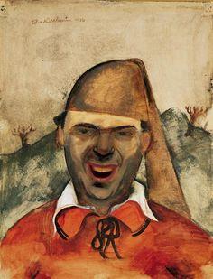 Self-portrait with Crazy Laugh (Felix Nussbaum, 1904-1944). ''Если я исчезну – не дайте моим картинам умереть''