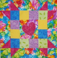 Go Together #5 Happy Heart Block pattern $1.00 on Craftsy at http://www.craftsy.com/pattern/quilting/home-decor/go-together5-happy-heart/47493