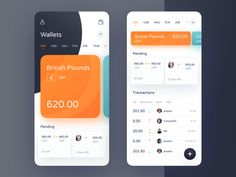 ToucanPay App by Michał Jarosz for App'n'roll on Dribbble Design Android, Android Ui, Mobile Ui Design, App Ui Design, Interface Design, User Interface, Dashboard Ui, Dashboard Design, Financial Dashboard