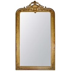 19th Century French Mirror | From a unique collection of antique and modern wall mirrors at https://www.1stdibs.com/furniture/mirrors/wall-mirrors/