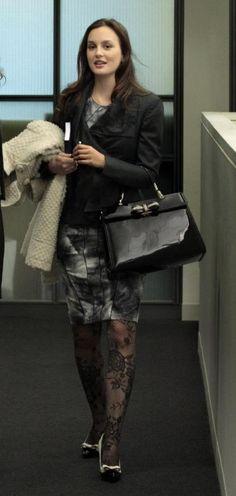 Season 4 - Queen B. Bensoni Fall 2010 dress. Valentino jacket. Cesare Paciotti coat. Miu Miu shoes.  Valentino bag. Alexis Bittar bracelet.