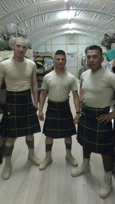 Sporting the Kilt in Kuwait - Bless you guys for serving and come home soon...