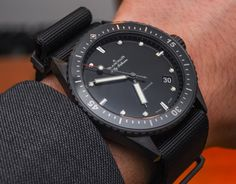 """Blancpain Fifty Fathoms Bathyscaphe Watch In Ceramic For 2015 Hands-On - by Rob Nudds - see the hands-on photos, the other models, & read more on aBlogtoWatch.com """"Having a well-established brand in the world of watchmaking is often enough to shift new products. When that brand is primarily associated with an iconic model referenced by said new products, you can all but bank on a favourable reception. 2015 sees the release of the Blancpain Bathyscaphe in ceramic..."""""""