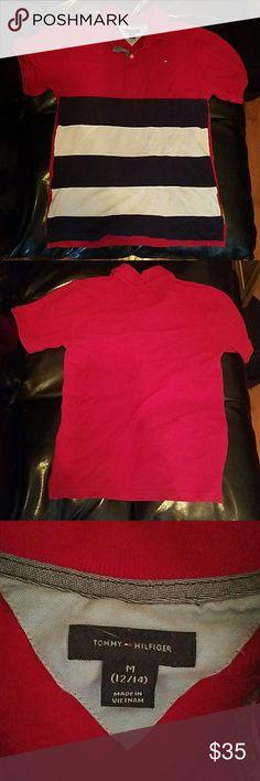 🎉🎉$5 t shirt sale!!! BUNDLE DEALS!!!🎉🎉 Like new bous Tommy Hilfiger Polo shirt size 12/14 Tommy Hilfiger Shirts & Tops Polos