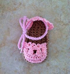 Crochet Baby Sandals  Espadrille Sandals by SugarBeeBabyBoutique, $8.00