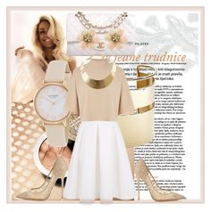A fashion look from June 2015 featuring cream shirt, mid calf skirts and pointy toe shoes. Browse and shop related looks. Cream Shirt, Keepsake The Label, Malene Birger, Warehouse, Jimmy Choo, Kate Spade, Chanel, Fashion Looks, Nude