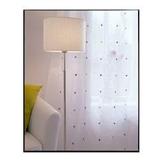 IKEA - ALÄNG, Standleuchte, vernickelt/grau, , Die Höhe lässt sich dem Beleuchtungsbedarf anpassen.