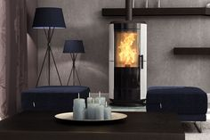 In this is it very because there is a beautiful from burning. Pellet Fireplace, Living Room, Lighting, Beautiful, Home Decor, Decoration Home, Room Decor, Home Living Room, Lights