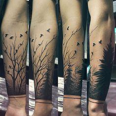 #tattoo #tattoos #forest #tree