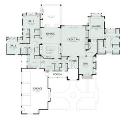 Basement House Plans, Ranch House Plans, House Floor Plans, Walkout Basement, Garage Plans, The Plan, How To Plan, French Country House Plans, European House Plans