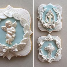 Lorena Rodriguez. Wedgwood inspired. Religious cookies