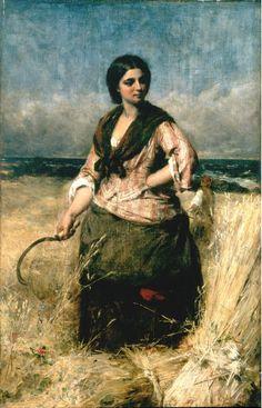 Thomas Faed  -  The Reaper (1863