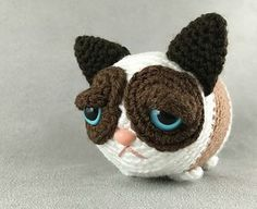 A lot of grumpy in a little package! Crochet your own portable, stackable Grumpy Tsum.