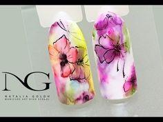 Нежные цветы на ногтях: БЫСТРАЯ маркерная техника с прорисовкой / Flower...