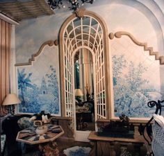 Winter garden. Painted tiles and trompe l'oeil www.malleorossi.it