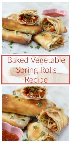 Baked Vegetable Spring Rolls Recipe