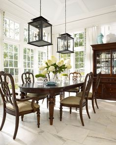 In Atlanta Homes with Thomasville Furniture - traditional - dining room - atlanta - Laura Hardin