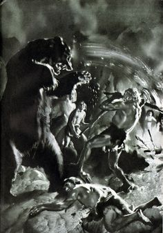 Neanderthals fight off Cave Bear