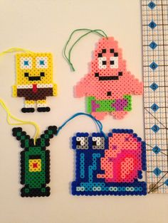 SpongeBob Ornament PlanktonSpongebob Patrick by KimsColorfulCrafts