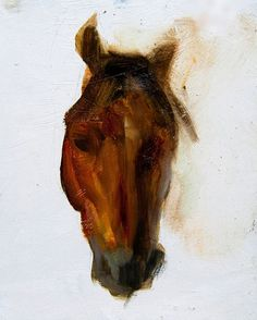 quick horse study from the other week #oilpainting
