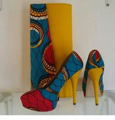 African Wax Print Shoes and Purse. African Fabric pumps,African shoes,Ankara Shoes, African Heel Shoes, African Design and purse..