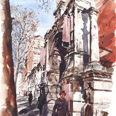 Illustration of Victoria and Albert Museum by Philip Bannister