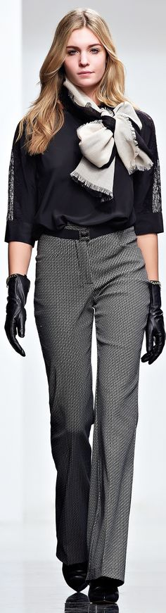 Twin-Set FW 2015-16 women fashion outfit clothing style apparel @roressclothes closet ideas