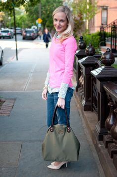 Hot Pinks, Florals and Monograms - Kelly in the City