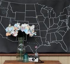 map art to mark where you've been and where you are