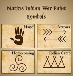 Native Indian war paint symbols and their meanings