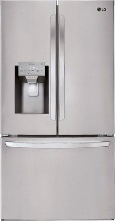 LG 27.9 French Door Smart Wi-Fi Enabled Refrigerator Stainless steel LFXS28968S - Best Buy Z Stainless Steel Counters, Stainless Steel Refrigerator, Lg French Door Refrigerator, Appliance Bundles, Kitchen Appliance Packages, Tempered Glass Shelves, French Doors, Wi Fi, Cool Things To Buy