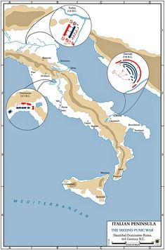 Second Punic War - Map - 218-201 BC