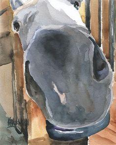 Zenyatta Horse 11x14 signed art PRINT painting RJK