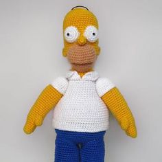 Homer Simpson amigurumi pattern by Anna Vozika