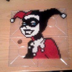 Harley Quinn perler beads by myworldofdeath: