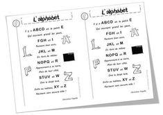 Poèmes alphabet, lettres et voyelles Alphabet Poem, Billboard, Letters, 1st Grades, Learning, Songs