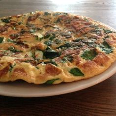 Groente omelet met spinazie & courgette