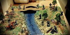 Aundria's civil war diorama