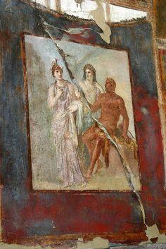 Herculaneum (Ercolano)- fresco from underneath vulcano ashes by dirk huijssoon, via Flickr