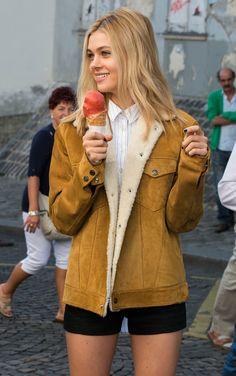 Sherri's fringe jacket on holiday: nicola peltz