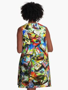 """""""Abstract #1a"""" A-Line Dresses by Mark Ross   Redbubble"""