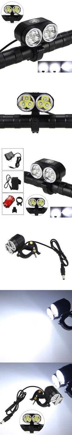Strong 10000LM T6 led Bicycle Light Head Front Light Bicycle Bike Light Headlight+16000mAh Battery Pack +AC Charger + Tail Light