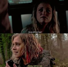Bellamy gives her hope.