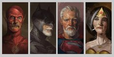 Old DC Superheroes Ready to Retire Fan Art - Media Chomp Batman Wallpaper, Hero Wallpaper, Superman Wonder Woman, Batman And Superman, Cyborg Dc Comics, Batman Green Lantern, Marvel And Dc Superheroes, Iron Man Captain America, Medium Art