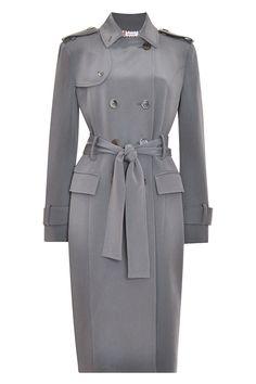 Thom Browne Silk-Crepe Trench Coat, $2,900; modaoperandi.com    - ELLE.com