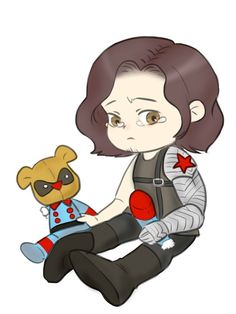 Aww, Bucky, this is why you need to learn how to use your metal arm correctly...