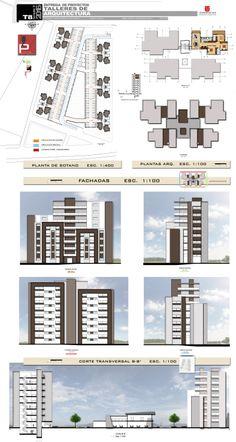 Condominium Architecture, Facade Architecture, Residential Architecture, Indian Architecture, Town House Floor Plan, Hotel Floor Plan, House Plans, Architecture Concept Drawings, Futuristic Architecture