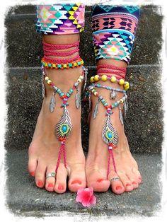 Bikini Pluma de Pavo Sandalias reales Descalzas del dedo Del circulares de las Rosas fuertes porciones GPyoga: