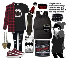 """emo Marshall Lee"" by nefelisas ❤ liked on Polyvore featuring Yves Saint Laurent, Vans, Casetify, Retrò and Valentino"